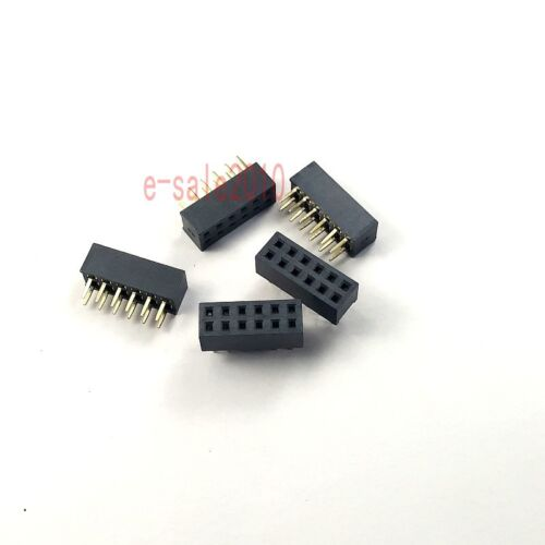 20pcs Pitch 2mm 2x6 Pin 12 Pin Female Double Row Straight PCB Header Strip 2.0mm