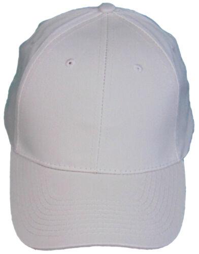 BLANC BOWLING CAP 100/% coton jeu Chapeaux Sangle Réglable Casquette De Baseball