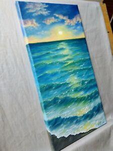 Art-18-034-9-034-oil-painting-seascape-landscape-ocean-sunset-on-the-ocean
