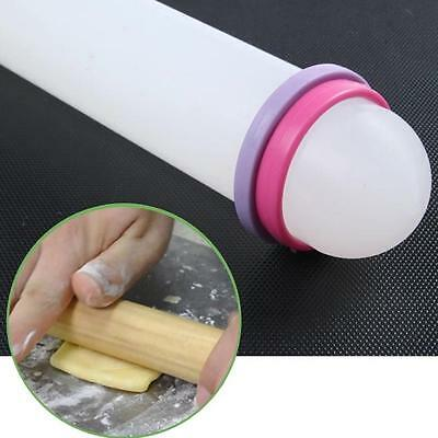 "New 9"" Non-stick Rolling Pin Dough Fondant Cake Tool Decorating Ring Roller - CB"