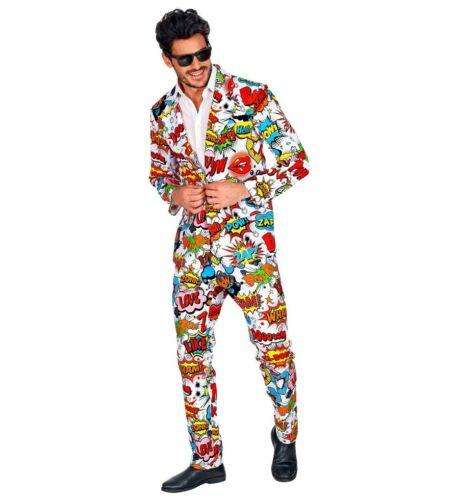 WIM 09351 Herren 60er Jahre Pop Art Kostüm Anzug Bunt Karneval S M L XL