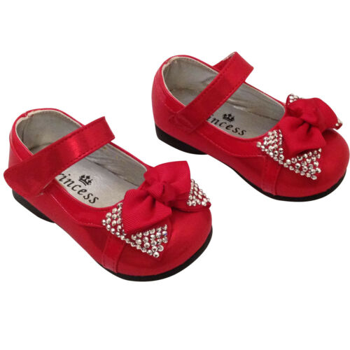 Baby Girls Bow Wedding Bridesmaid Party Shoes 9-12 12-24 Months Infant 5 6
