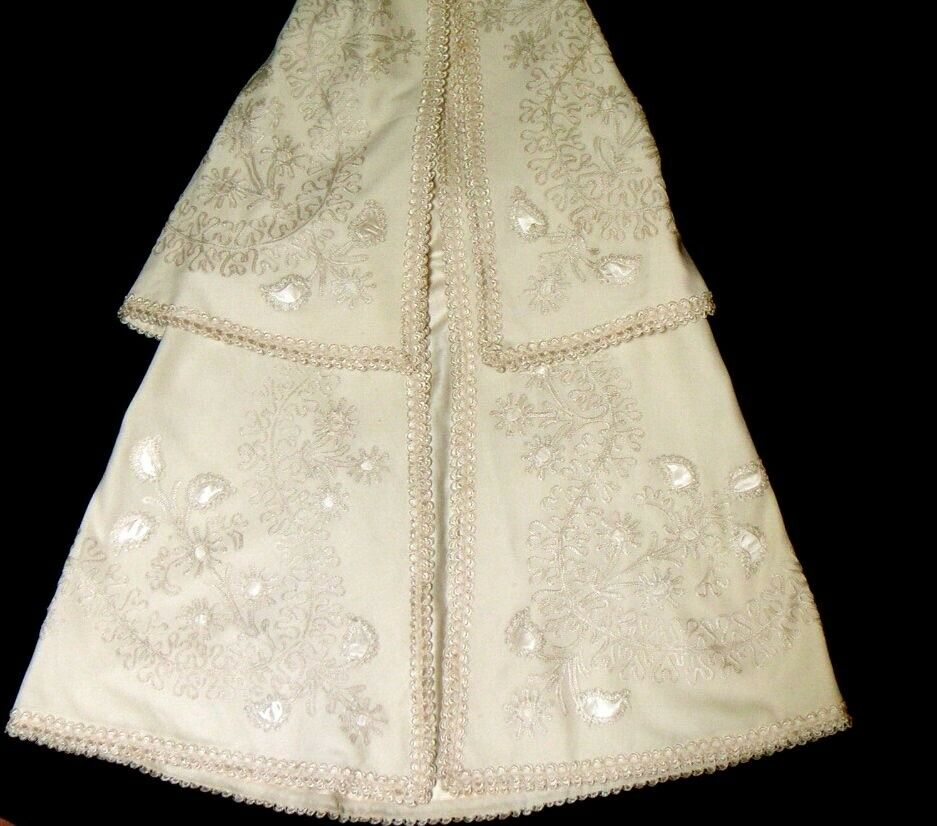 ANTIQUE BABY'S CARRYING CAPE, in fine wool, 19 Cent., Collectors, Christening,