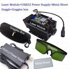 450nm 15w Blue Laser Module With Heatsink For Laser Cutter Engravermetal Sheet