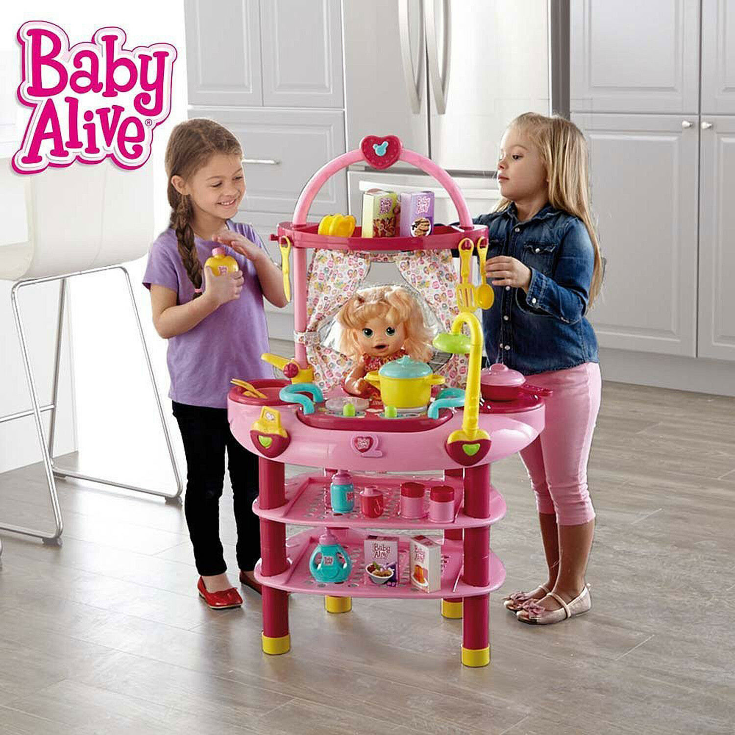 BRAND NEW BABY ALIVE DOLL COOK N CARE 3 IN 1 PLAY SET