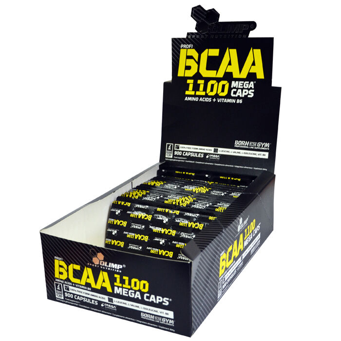 OLIMP BCAA Mega Kapseln Caps 1100mg pro Kapsel 120 Aminosäure Kapseln Mega Anticatabolic 6a6fa0