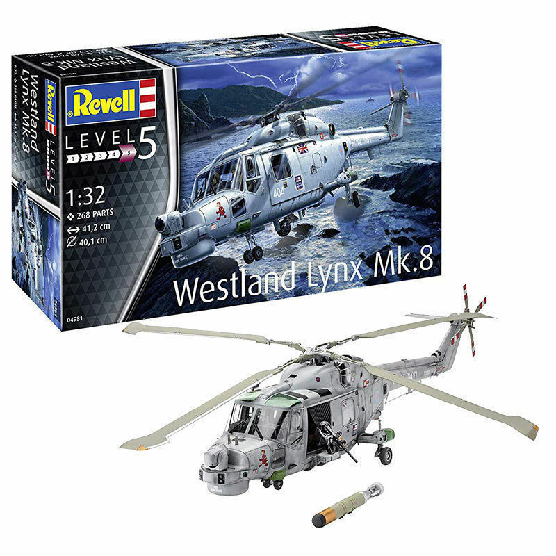 Revell 04981 Helicopter Westland Lynx Mk.8 Kit 1 3 2 New