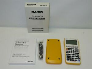 Yellow-Casio-fx-9750GII-Handheld-Graphing-Calculator-School-Property-Edition-NIB