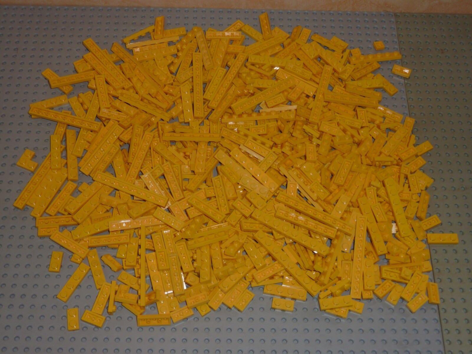 LEGO Lot de 600 Briques Plate jaune Réf.3024 3023 3623 3710 3666 3460 2420