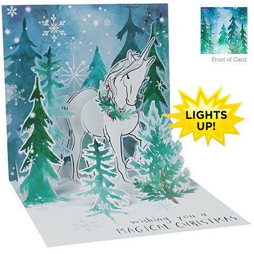 MAGICAL CHRISTMAS UP-WP-X-LIT-1307 3D Light Up Card from Up With Paper