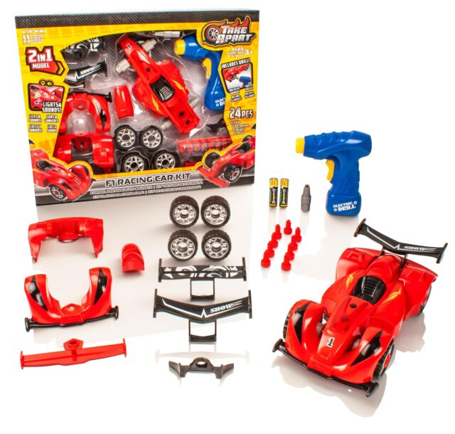 Build Your Own Car Kit >> Take Apart Construction Toy Kit 2 In 1 F1 Racing Car Build Your