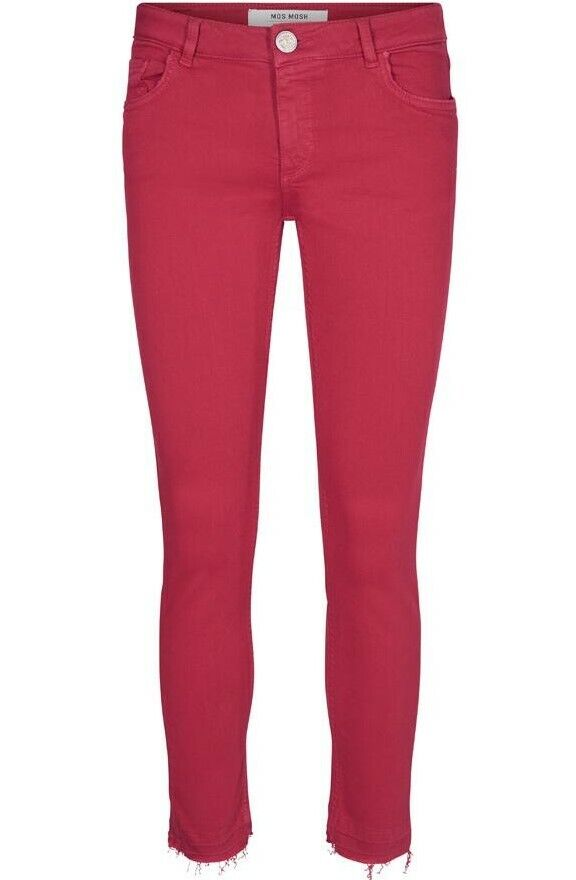 MOS MOSH SUMMER COLOUR PANT CHERRY rot JEANS