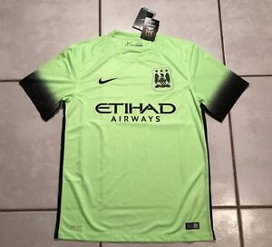 separation shoes f2cd8 8c03c Details about NWT NIKE Manchester City 2015/2016 3rd Jersey Men's Medium