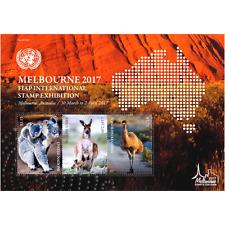 UNITED NATIONS  2017 - AUSTRAILA STAMP  SHOW SHEET - MELBORNE - MINT NH