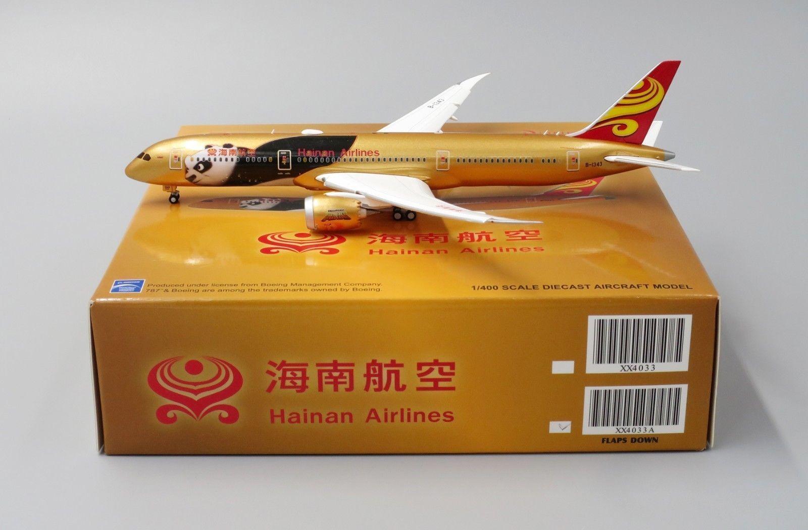 JC Wings 1 400 Hainan Airlines B787-9'Kung Fu Pea 4 - Flaps Down'B-1343