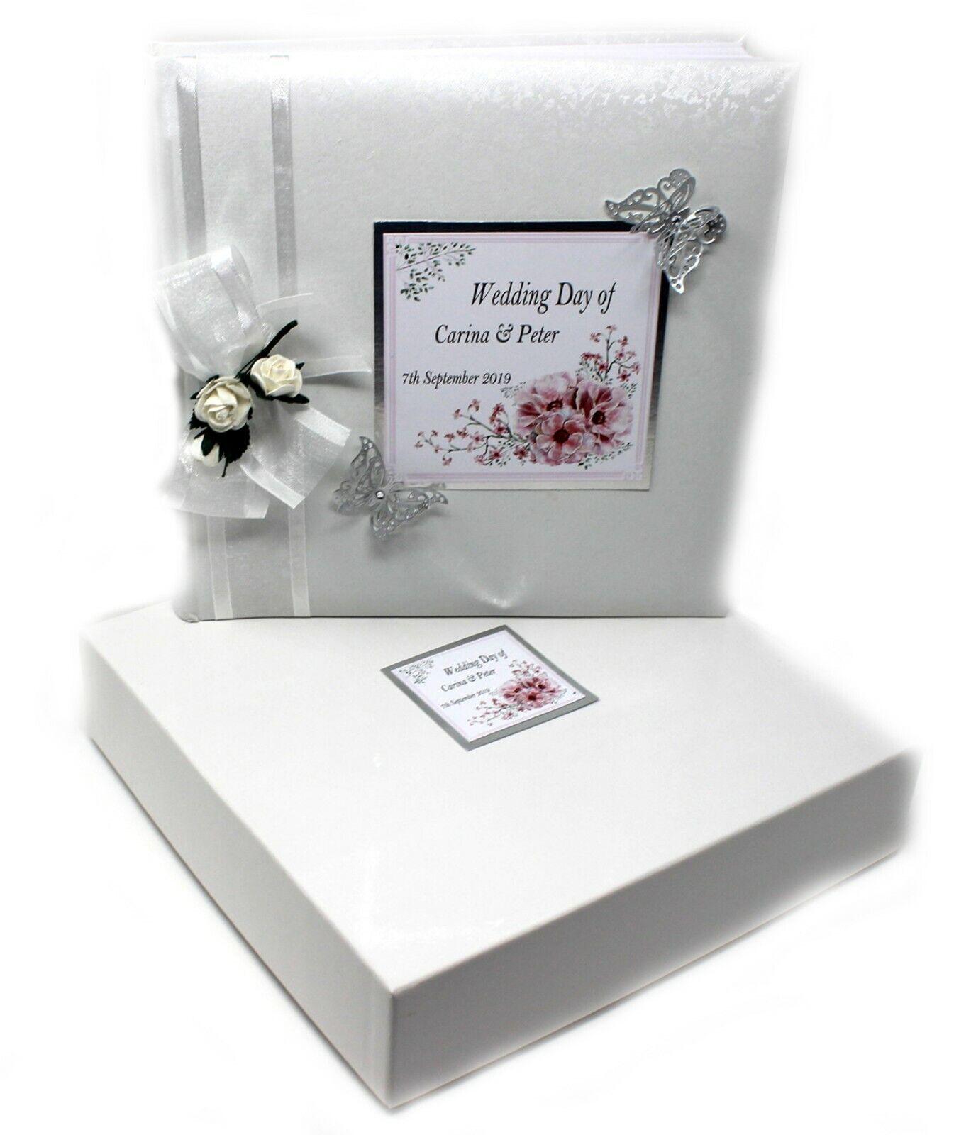 Large Boxed Traditional Wedding Album  Weiß Personalised decoration