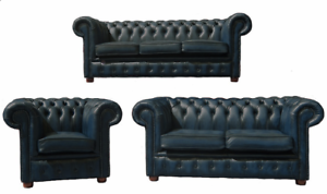 Image Is Loading Chesterfield London English 3 2 1 Seater Antique