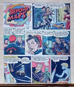 Beyond Mars by Jack Williamson - scarce full tab Sunday comic page Jan. 4, 1953