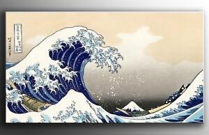QUADRO-LA-GRANDE-ONDA-DI-KANAGAWA-DIPINTO-A-MANO-MODERNO-ASTRATTO-painting
