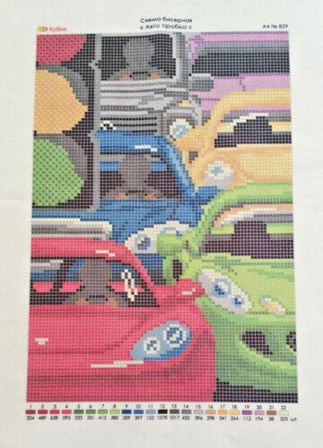 Embroidery//needlepoint Bead stitching Beadwork//вышивки бисером//City//people//cars