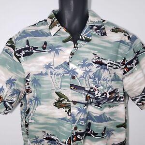 af2b896d Kalaheo M Hawaiian Aloha Shirt B52 Bombers Pinup Fighter Prop Planes ...