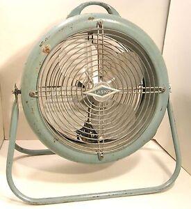 Vintage Lasko Electric Floor Desk Fan Turquoise 1950s 2