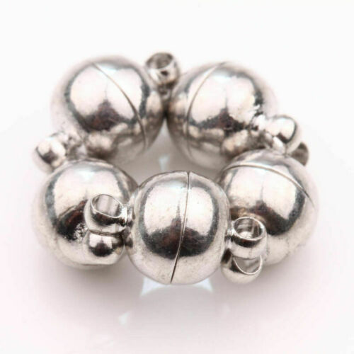 10X Silver Plated Tone Strong Magnetic Clasp Hooks Necklace Findings Jewelry DIY