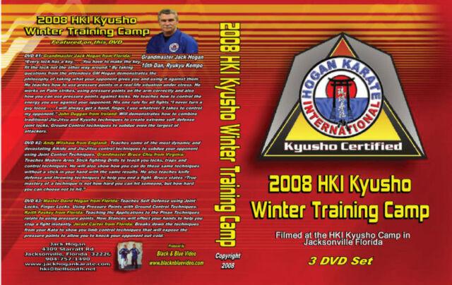 2008 Extreme Kyusho Self Defense Instructional 3 DVDs Jack Hogan HKI