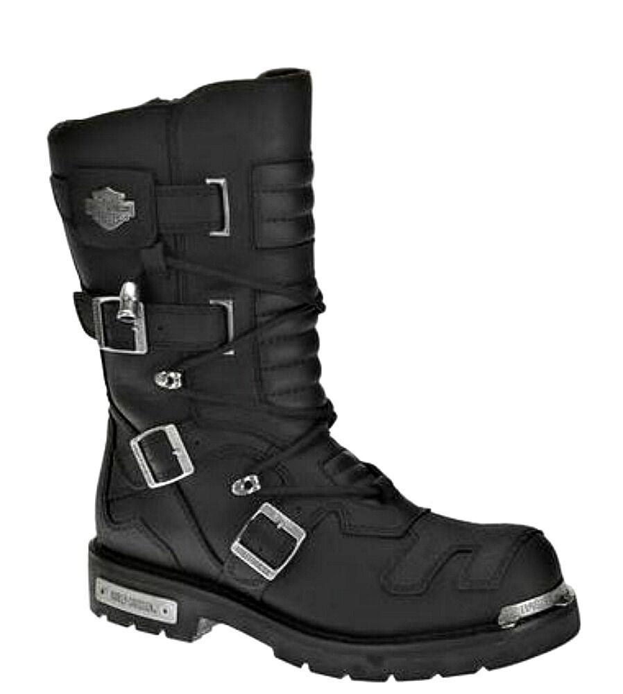 Harley-Davidson ® Para Hombre Negra Cuero Moto Alto Axel Equitación botas D96035