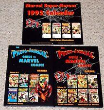 Gerber THE PHOTO JOURNAL GUIDE TO MARVEL COMICS vol 1 2 HC + 1992 Calendar Lot