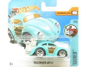 Hotwheels-Volkswagen-Beetle-Tooned-Blue-74-365-Short-Card-1-64-Scale-Sealed-New