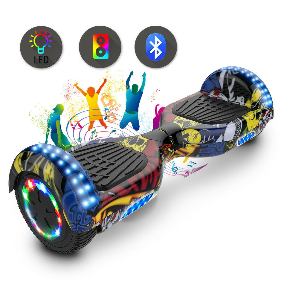HOVERBOARD 6,5'' ELETTRICO SELF BALANCING SCOOTER bluTOOTH OVERBOARD MOTORE LED