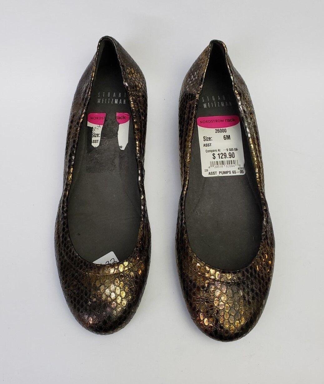 Stuart Weitzman Schuhes Flats Ballet Bronze Gold Spain Damenschuhe Damenschuhe Damenschuhe Größe 6 M f5dee6