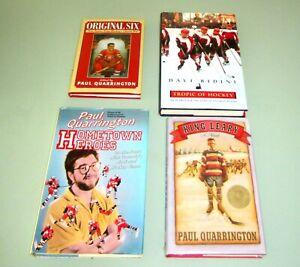 4 Books SIGNED by Paul Quarrington & DAVE BIDINI Hockey KING LEARY Original 6