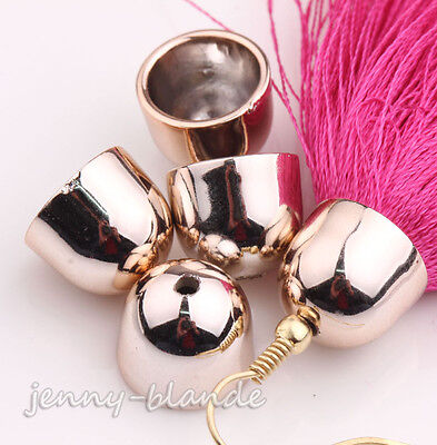 Wholesale Rose Gold Plated Bead End Caps For Leather Cords Jewelry Finding DIY