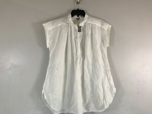 Women's Aerie Short Sleeve 1/4 Button Down Shirt - Size S - White