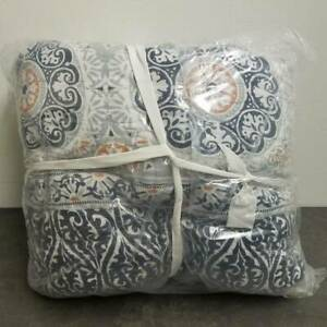 Pottery Barn Full Queen Pia Medallion Cotton Quilt Ebay