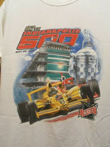 Indianapolis 500 white graphic M 03 t shirt