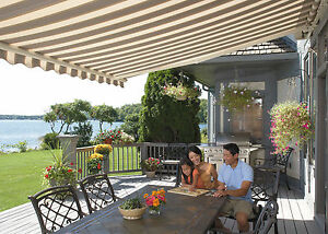 Image Is Loading SunSetter Motorized Retractable Awning 16 Ft XL Acrylic