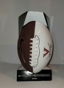 NEW Nike Virginia Cavaliers UVA White Panel Autograph Football NEW IN BOX !