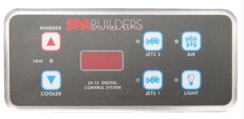 MOD 03-16 SpaBuilders TOPSIDE LX-15 6-buttons 25/' extended alpha rev 5.31