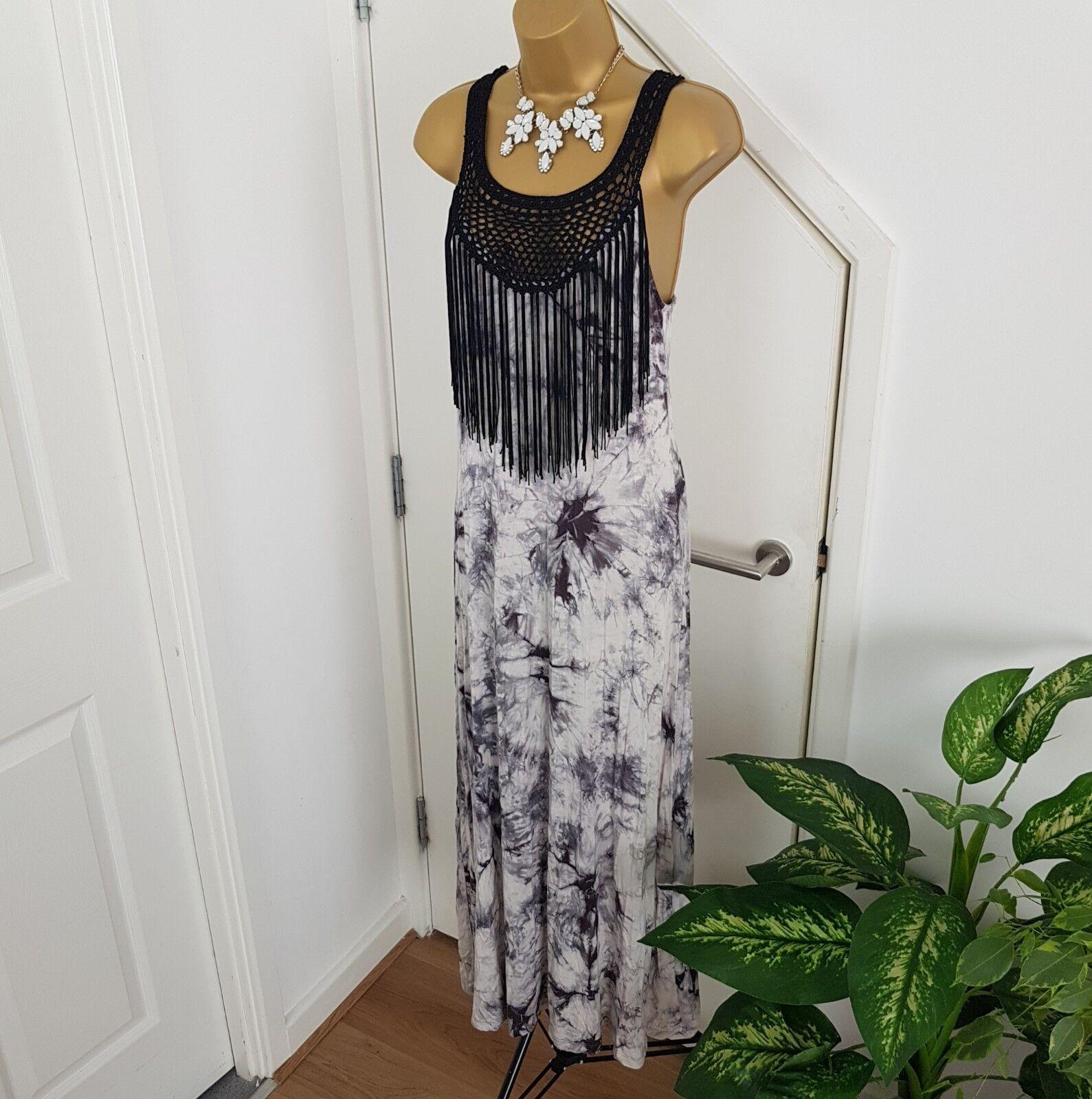 Bobeau Dress Maxi Long Stretch Sleeveless Printed Size