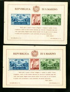 San-Marino-Stamp-S-S-Perf-amp-Imperf-XF-OG-NH-Scott-230