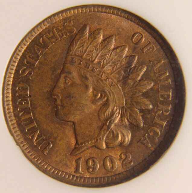 1902 Indian Cent, MS 63RB