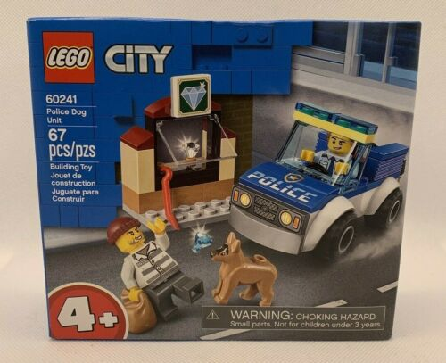 Lego City POLICE DOG UNIT 60241 Building Kit With Minifigures NEW SEALED!