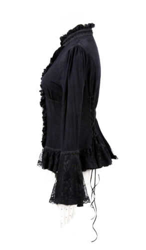 Chemisier gothique lolita jacquard dentelle jabot baroque victorien Punkrave N