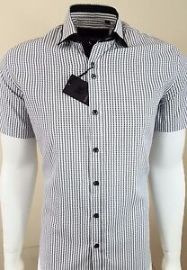 MENS-DOUBLE-COLLAR-SHORT-SLEEVE-SHIRT-FORMAL-DRESS-CASUAL-FM-19-99-TO-15-99-370