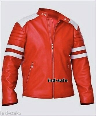 Tailor Made All Size Genuine Leather Jacket Fight Club Tyler Durden Brad Pitt NR