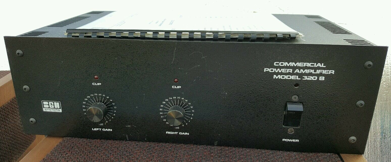 BGW 320B Comercial Stereo Power Amplifier Amp For Repair or Part