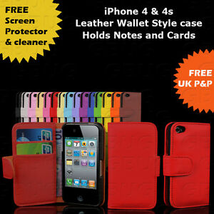 LEATHER-NEW-GRIP-SERIES-IPHONE-4-4S-CASE-COVER-SHOCK-PROOF-free-screen-protector